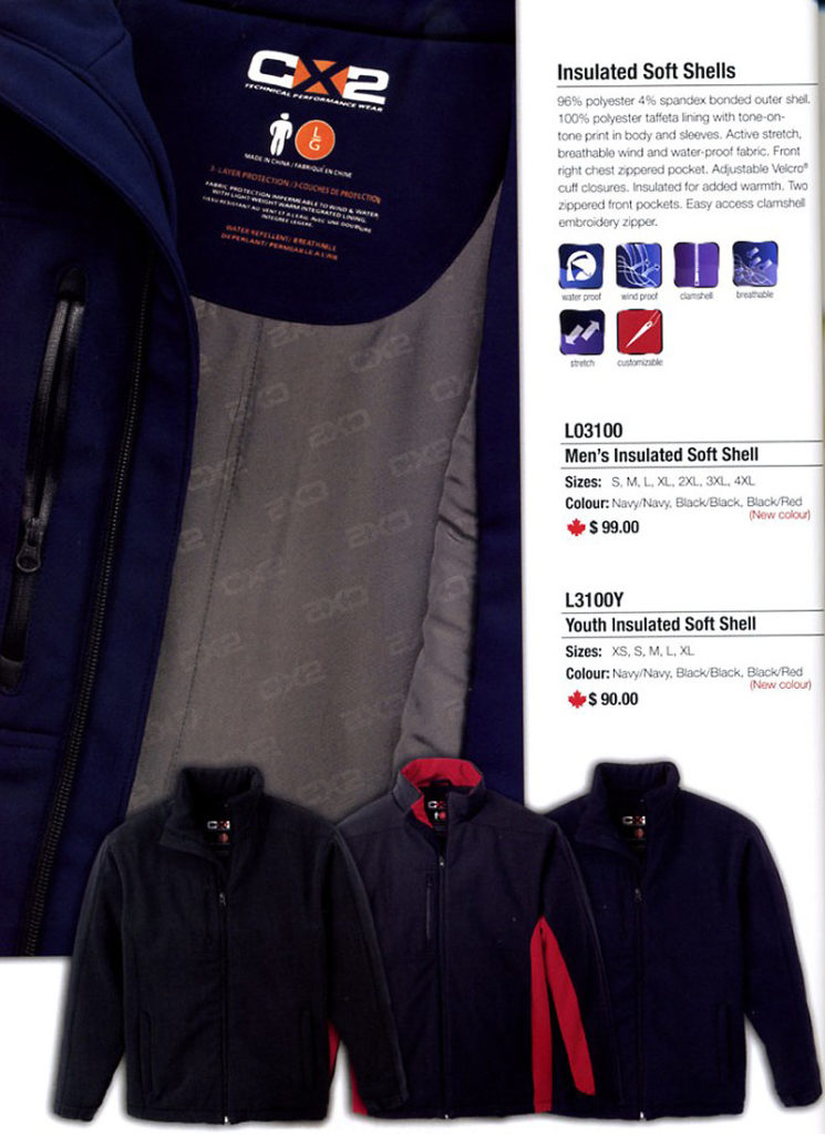 1f4ab3e39ce6 CX2 TECHNICAL PERFORMANCE NAVYGREY QUILTED JACKET