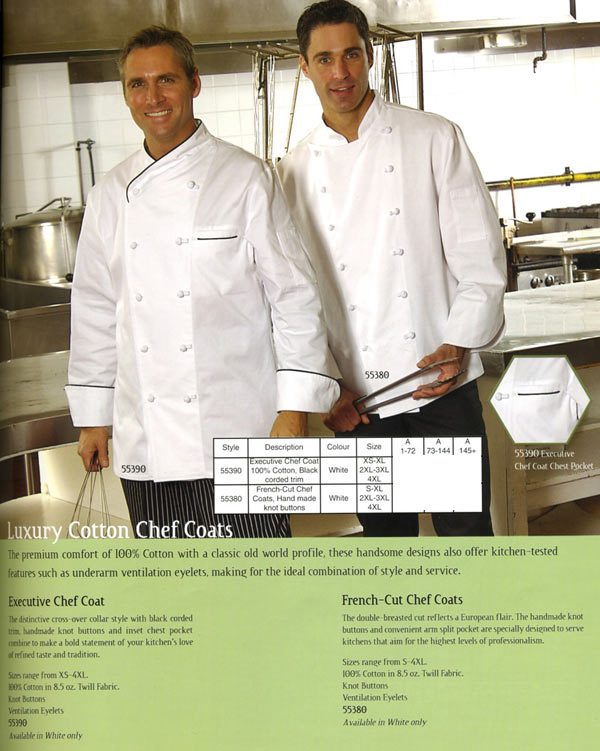 european chef aprons
